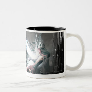 Screenshot: Nightwing vs harley Two-Tone Coffee Mug