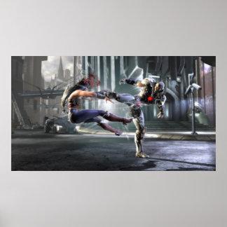 Screenshot: Wonder Woman vs Cyborg Poster