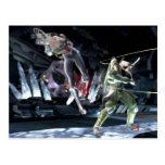 Screenshot: Wonder Woman vs Green Arrow Postcard