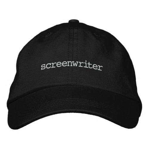Screenwriter Black Embroidered Baseball Cap