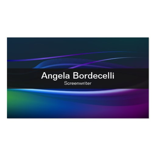 Screenwriter Business Card Borealis Lights