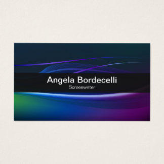 Screenwriter Business Card Borealis Lights