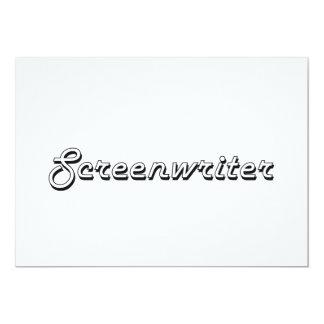 "Screenwriter Classic Job Design 5"" X 7"" Invitation Card"