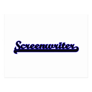 Screenwriter Classic Job Design Postcard