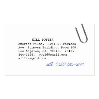 Screenwriter iii business card