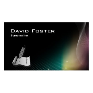 Screenwriter in film television theatrical Script Business Card Templates