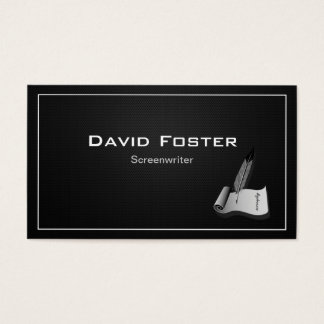 Screenwriter in film television theatrical Script Business Card