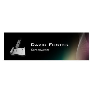 Screenwriter in film television theatrical Script Business Card Template