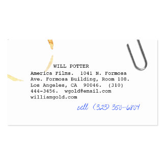 Screenwriter v business card
