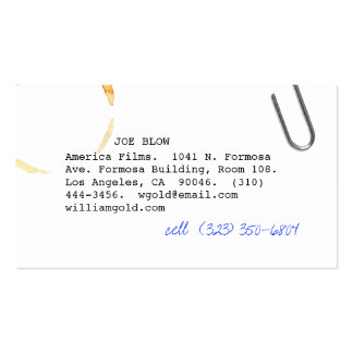 Screenwriter vi Double-Sided standard business cards (Pack of 100)