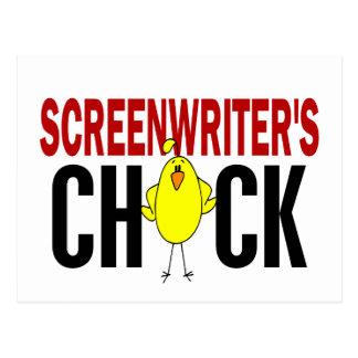 Screenwriter's Chick Postcard