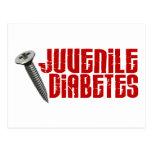 Screw 2 Juvenile Diabetes Postcard