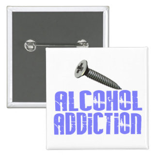 Screw Alcohol Addiction Light Blue Buttons