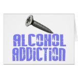 Screw Alcohol Addiction Light Blue Greeting Cards