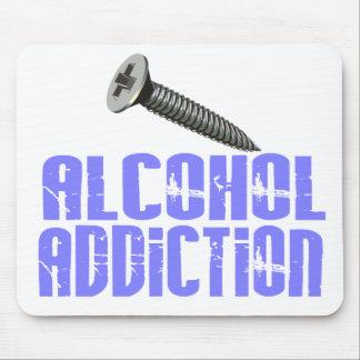 Screw Alcohol Addiction Light Blue Mousepads