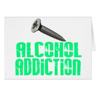 Screw Alcohol Addiction Light Green Greeting Card