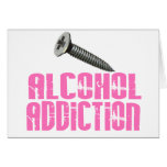 Screw Alcohol Addiction Pink Cards