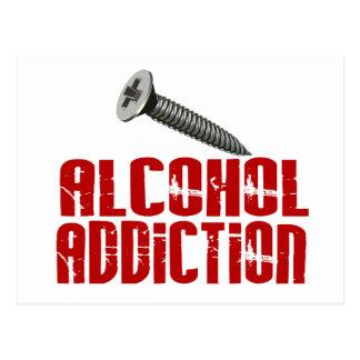 Screw Alcohol Addiction Postcard