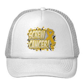 Screw Appendix Cancer Comic Style Trucker Hat
