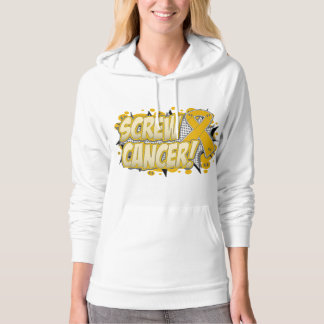 Screw Appendix Cancer Comic Style Hooded Pullovers