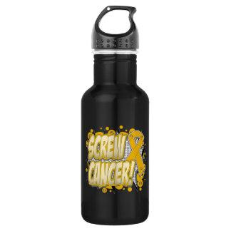 Screw Appendix Cancer Comic Style 18oz Water Bottle
