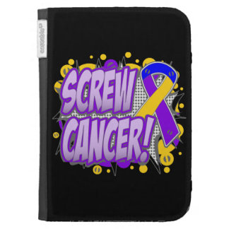 Screw Bladder Cancer Comic Style Kindle 3G Cases