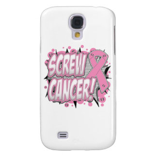 Screw Breast Cancer Comic Style Galaxy S4 Case