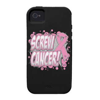 Screw Breast Cancer Comic Style Vibe iPhone 4 Covers