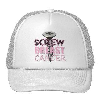 Screw Breast Cancer Trucker Hat