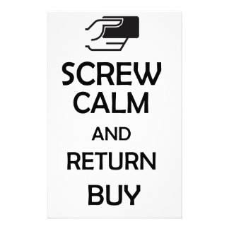 screw calm and return buy stationery