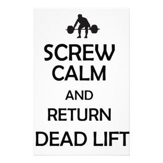screw calm and return dead lift stationery