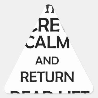 screw calm and return dead lift triangle sticker