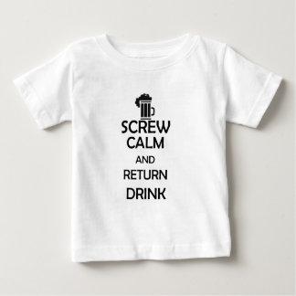 screw calm and return drink t shirt