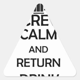 screw calm and return drink triangle sticker