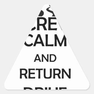 screw calm and return drive triangle sticker