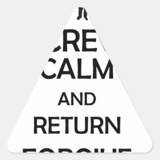 screw calm and return forgive triangle sticker