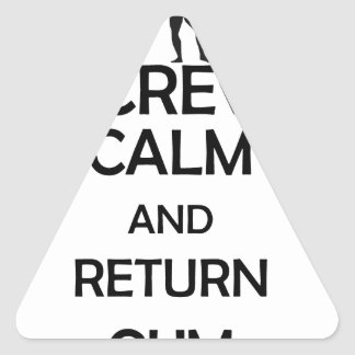 screw calm and return gym triangle sticker