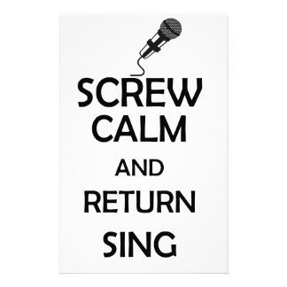 screw calm and return sing stationery