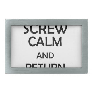 screw calm and return sow belt buckle