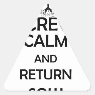 screw calm and return sow triangle sticker