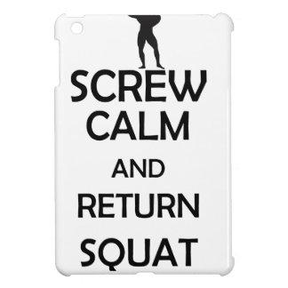 screw calm and return squat iPad mini covers