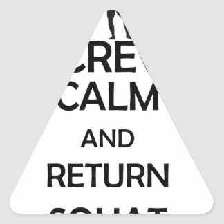 screw calm and return squat triangle sticker