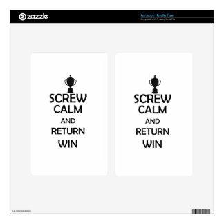 screw calm and return win kindle fire skin