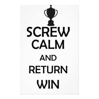 screw calm and return win stationery