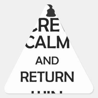 screw calm and return win triangle sticker