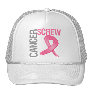 Screw Cancer - Breast Cancer Hat