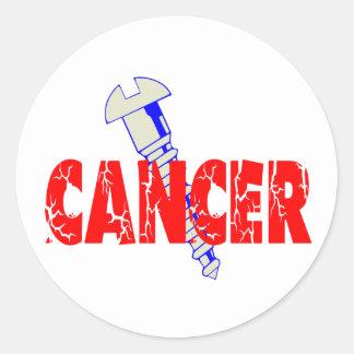 Screw Cancer Classic Round Sticker