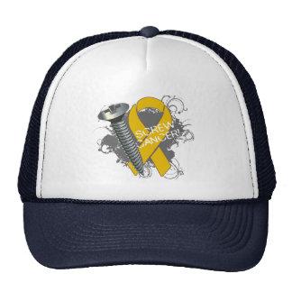 Screw Cancer - Grunge Appendix Cancer Trucker Hat