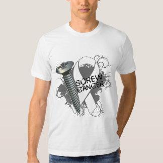 Screw Cancer - Grunge Bone Cancer T-shirt