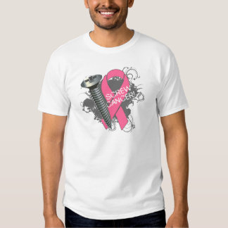 Screw Cancer - Grunge Breast Cancer Tee Shirts